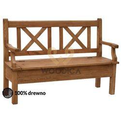Woodica Ławka hacienda 06 [x + schowek + podparcie] 120x98x56