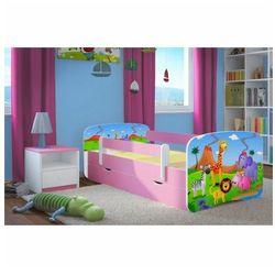 Łóżko dla dziewczynki z materacem Happy 2X mix 80x180 - różowe
