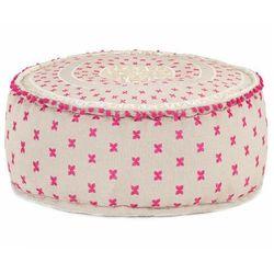 Kremowo-różowa pufa siedzisko i podnóżek - Climon, vidaxl_287576