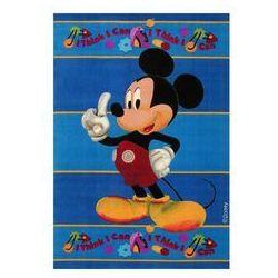 Niebieski dywan Myszka Miki Club House 100x150 akrylowy / Gwarancja 24m / NAJTAŃSZA WYSYŁKA!, OPT5560
