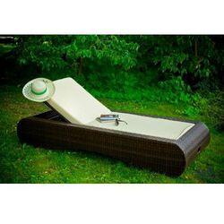 Leżak ogrodowy na kółkach z technorattanu DELICATO, LO.005.001