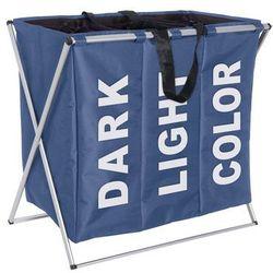 Wenko Pojemnik na pranie trio blue - aż 130 litrów,