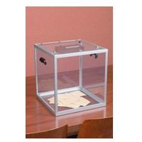 Duża urna z plexi pomieści do 1200 standardowych kart do głosowania marki Procity