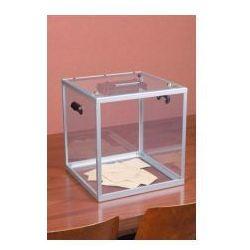 Duża urna z plexi pomieści do 1200 standardowych kart do głosowania - sprawdź w wybranym sklepie