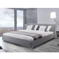 Nowoczesne łóżko tapicerowane ze stelażem 160x200 cm - paris szare marki Beliani