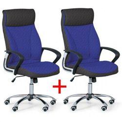 Fotel biurowy DERRY TEX 1+1 Gratis, niebieski