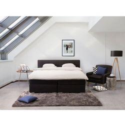 Łóżko czarne - 160x200 cm - kontynentalne - podwójne - ADMIRAL (7105274424897)