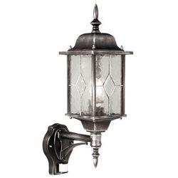 Elstead Zewnętrzna lampa ścienna wexford wx1/pir  elewacyjna oprawa ogrodowa ip43 z czujnikiem ruchu srebrna
