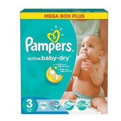 Pieluszki  active baby-dry rozmiar 3 midi, 174 szt. od producenta Pampers