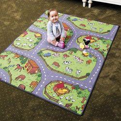 Dywan dla dzieci farma, 80 x 120 cm , 80 x 120 cm wyprodukowany przez 4home