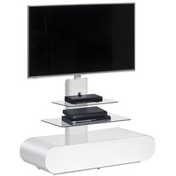 Stojak, wieszak, stolik pod telewizor biały, szkło 16355605
