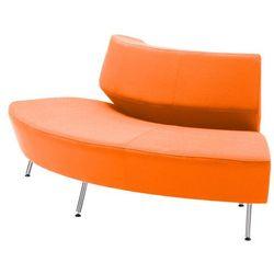 Pomarańczowa sofa skrętna do zewnątrz - system sof modułowych - sprawdź w wybranym sklepie