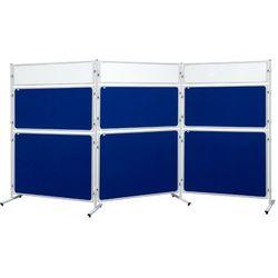 Ścianka moderacyjna 2x3 suchościeralno - magnetyczna dwustronna 120x60cm + 2 kpl uchwytów w prezencie!, TMS126