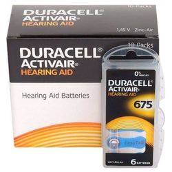 120 x baterie do aparatów słuchowych Duracell ActivAir 675 MF - sprawdź w wybranym sklepie