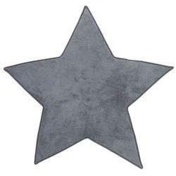 Dywanik z mikrofibry STAR - kolor szary, 95 x 90 cm (3560239473213)