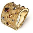 4 Outlet wenecki pozłacany 18k różowym złotem pierścionek - rozmiar 7