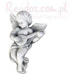 Sztukateria betonowa motyw aniołek z gitarą 22cm