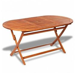 Składany stół ogrodowy endela - drewno akacjowe marki Elior