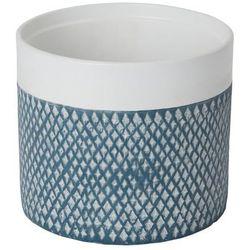 Doniczka ceramiczna GoodHome ozdobna 17 cm niebieska (3663602440987)