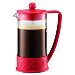 Zaparzacz do kawy brazil, 8 fliliżanek, 1.00 l, czerwony - czerwony marki Bodum