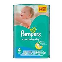 Pieluszki  active baby-dry rozmiar 4maxi, 76 szt. marki Pampers