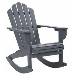 Szare bujane krzesło ogrodowe - daron marki Elior