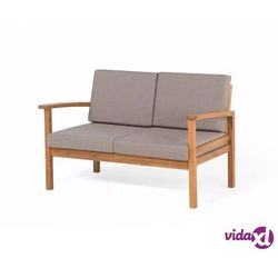 Beliani meble ogrodowe brązowe - stół + 2 fotele + ławka + hoker - manila (7105275244364)