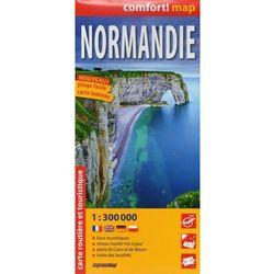 Expressmap Normandia mapa laminowana samochodowa 1:300 000