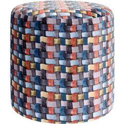 Pufa bawełniana, siedzisko, podnóżek, kolorowy - 35 x 35 cm (8719202554182)