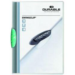 Skoroszyt zaciskowy Durable Swingclip 30 kartek zielony (4005546205243)