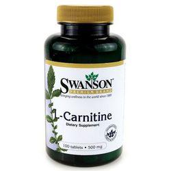 Swanson L-Karnityna (L-Carnitine) 500mg 100 tabl. (Tabletki na odchudzanie)
