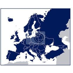 Fototapeta Pusty Mapa polityczna Europy, marki Redro do zakupu w REDRO