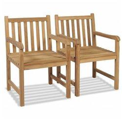 Zestaw drewnianych krzeseł ogrodowych - Trina, vidaxl_43250