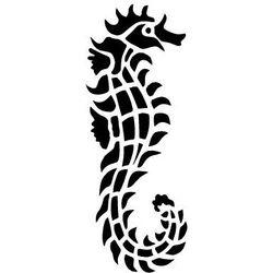 Szablon malarski z tworzywa, wielorazowy, wzór morski 21 - konik morski marki Szabloneria