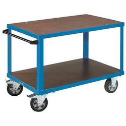 Wózek montażowy, 2 powierzchnie ładunkowe z płyt sitodrukowych, pow. ładunkowa 1