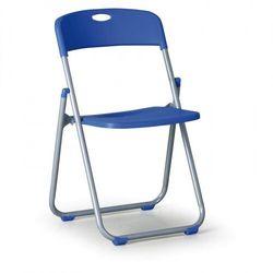 Krzesło składane clack, niebieske marki B2b partner