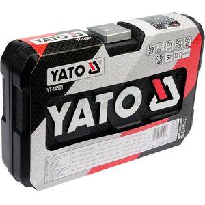 """Yato Zestaw narzędziowy 1/4"""" kpl 56 szt, YT-14501"""