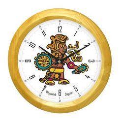 Zegar drewniany z wojownikiem