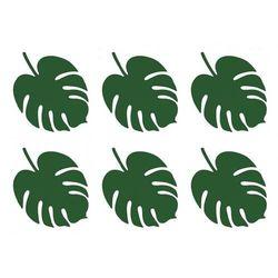 Wizytówki na stół aloha zielone tropikalne liście 6 szt. marki Partydeco