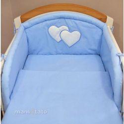 MAMO-TATO pościel 2-el Błękitna do łóżeczka 60x120cm z kategorii komplety pościeli dla dzieci