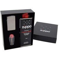 Zapalniczka ZIPPO Z20492 Black Ice Slim Pudełko prezentowe z akcesoriami Grawer