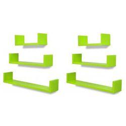Zestaw funkcjonalnych półek ściennych baffic - zielony marki Producent: elior