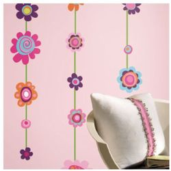 Rommates naklejki dekoracyjne flower stripe marki Room mates