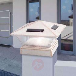 Lampa solarna LED 33038, 15 x 15 cm, antyk biała (9007371373352)