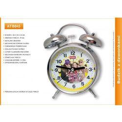 Metalowy budzik reklamowy z dzwonkami marki Atrix