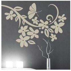Deco-strefa – dekoracje w dobrym stylu Kwiaty motyl 901 szablon malarski