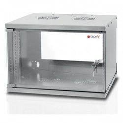 Techly Szafa wisząca ECO 19cali 6U/450mm zmontowana, szara (8054529022229)