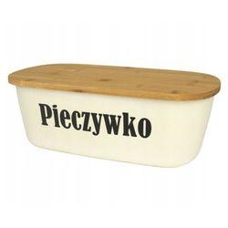 Chlebak pojemnik na chleb z deską bambusową napis (8719202828061)
