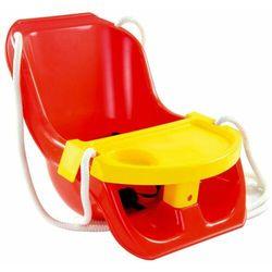 Czerwona huśtawka ze stolikiem dla dzieci do 25 kg