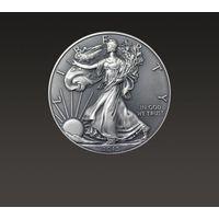 Amerykański orzeł 1 uncja srebra oksydowana marki The united states mint